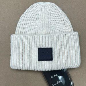 ACNE Studios Beige / Cream Wool Knit Beanie Toque